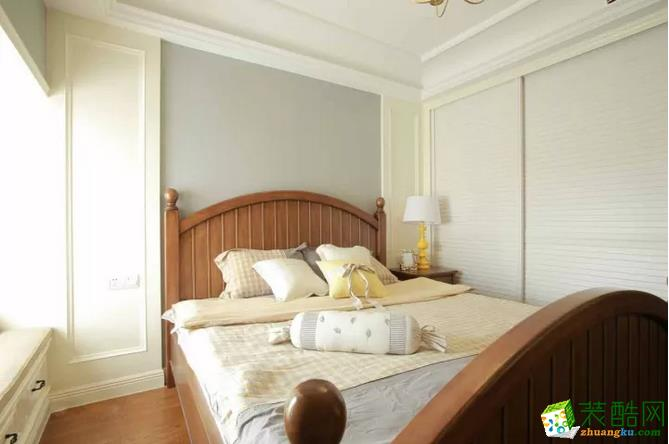 卧室  【豪川装饰】98�O美式风格装修效果图