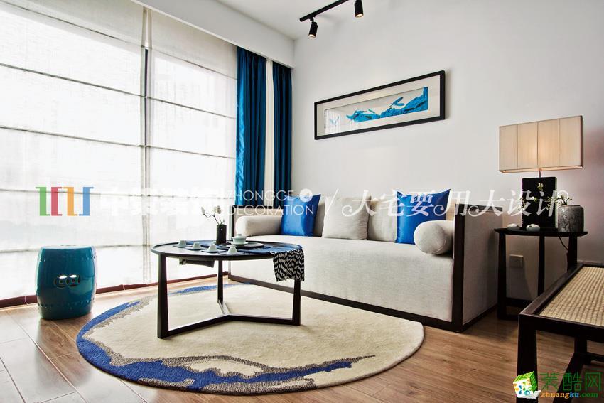 136平米现代中式风格三室两厅装修案例图 中策装饰