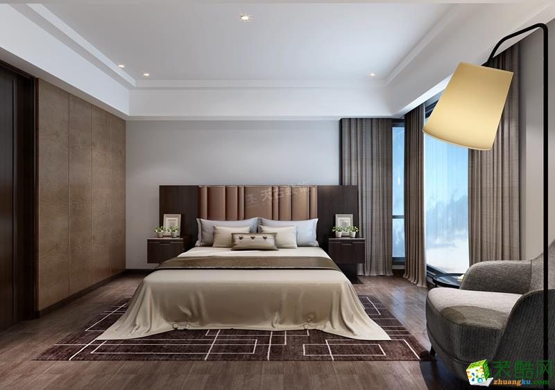 【天古装饰】棕榈泉悦江国际183平米现代简约风格四室两厅装修案例图赏析。