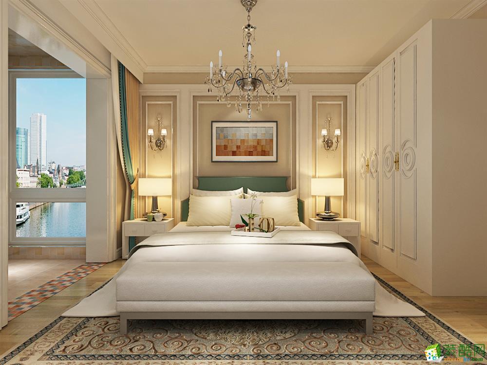 【玺汇国际装饰】紫晶悦城125平美式风格装饰效果图