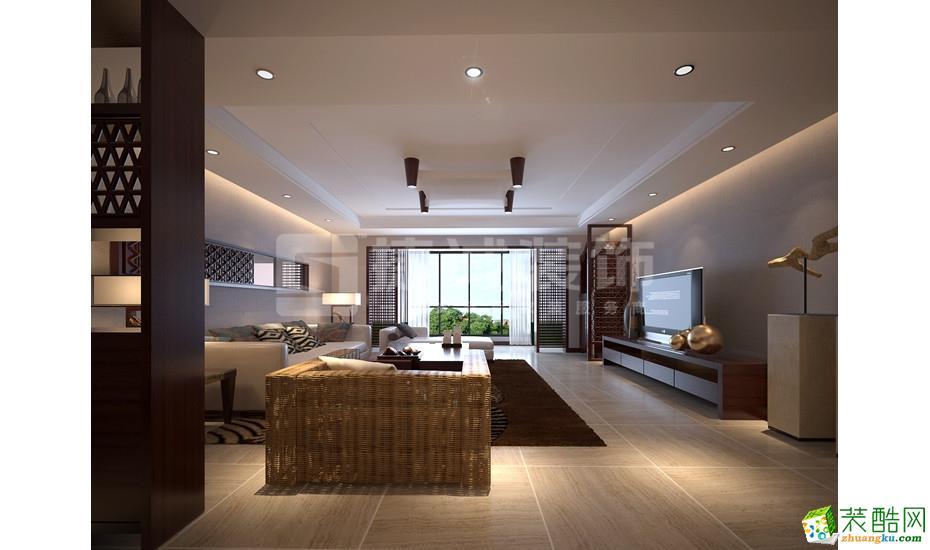168平米新中式风格四室两厅装修案例图|捷诚装饰