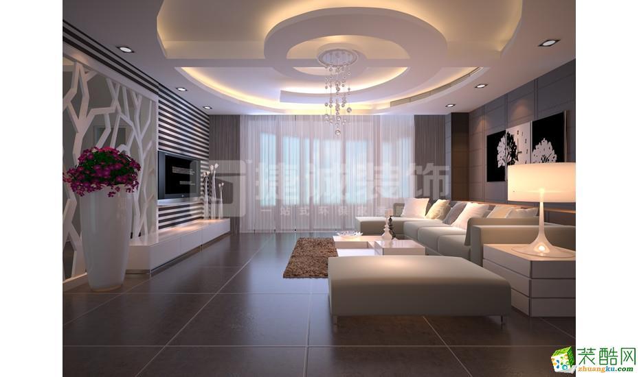 280平米现代简约风格别墅住宅装修案例图|捷诚装饰