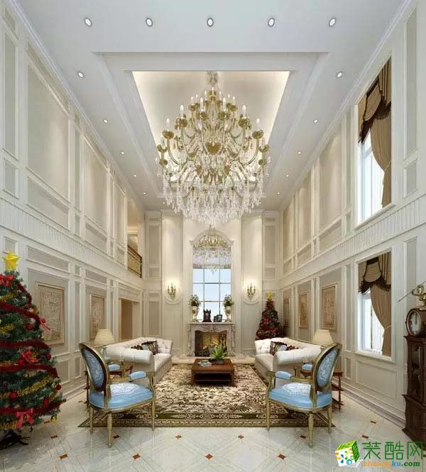 保利高尔夫独栋别墅600平米中式风格装修案例图|华浔品味装饰