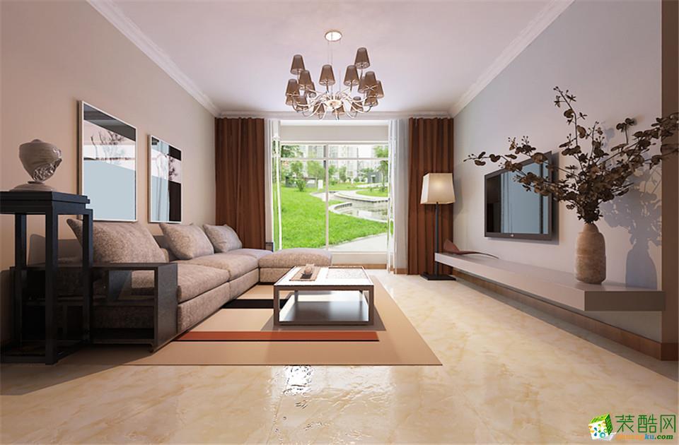 长沙美迪装饰-现代简约三居室装修效果图