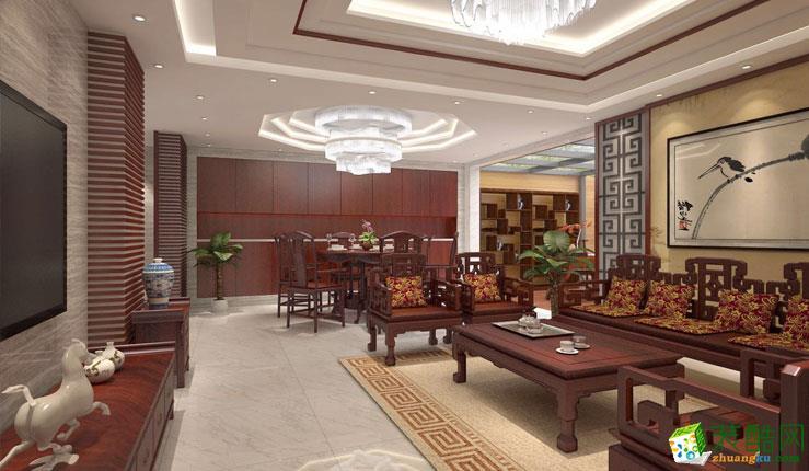 二沙岛花城苑200平米跃层住宅装修案例图|轩辕装饰