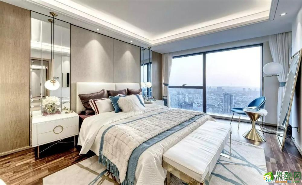 【嘉禾装饰】洪山区东方玉龙居136方三室两厅现代装修效果图