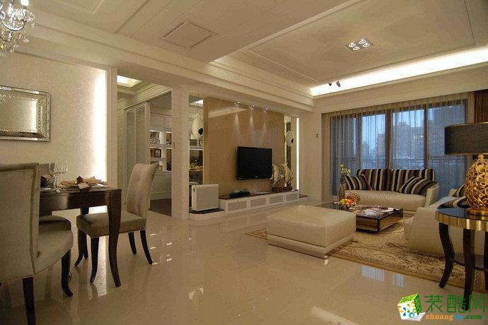 客厅 三室两厅 110平米 欧式风格 装修效果图 【纪杨装饰】简欧风格