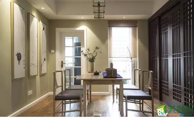 现代中式三居在餐厅的一边是书房设计,中式的古建筑,在书房设计上追求一种修身齐家的内心境界,注重于情趣的展现。