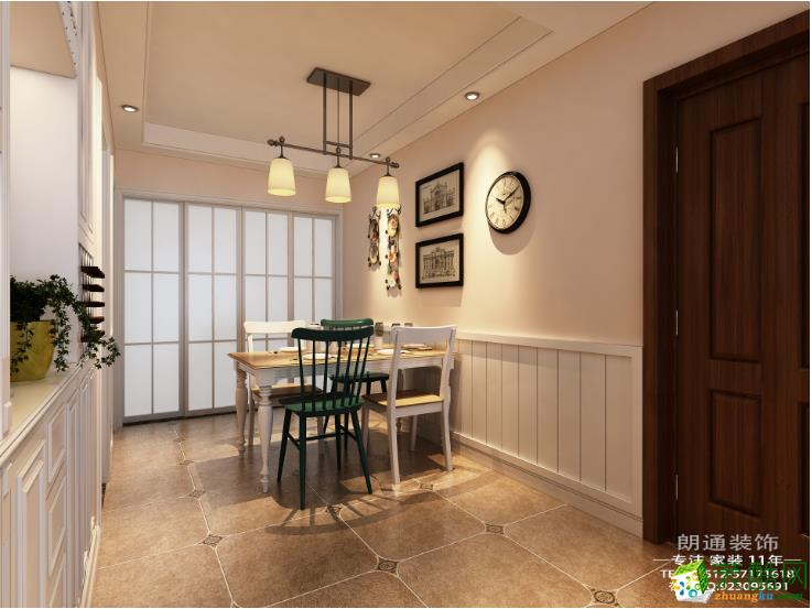 【朗通装饰】水岸花园120�O美式风格三室装修效果图