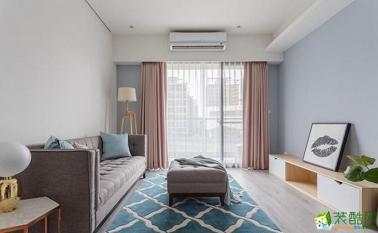 【左岸装饰】贤湖澜景82�O现代风格三室装修效果图
