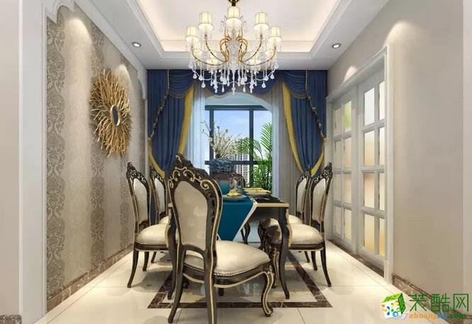 【龙太子装饰】130�O欧式风格三室装修效果图欣赏