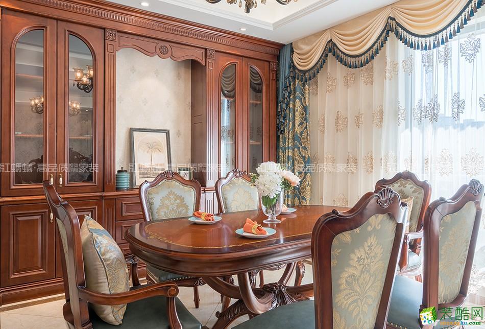 【苏州红蚂蚁装饰】橡树湾160方美式风格四居室装修设计效果图