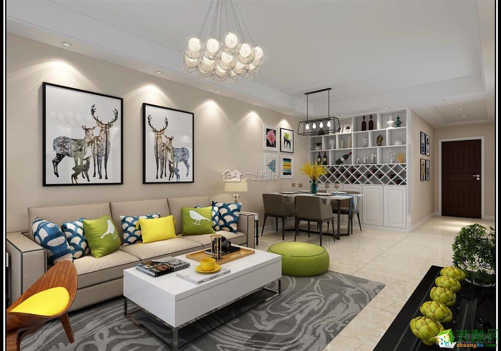 首页 装修案例 >> 【一号家居装饰】134平米三房现代简约风格装饰效