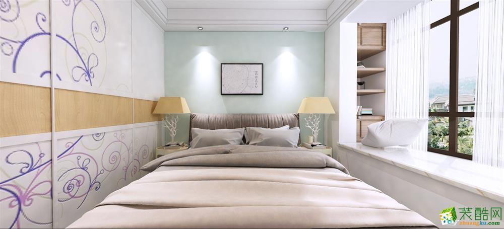 苏州枫雅装饰―环秀湖96方三室一厅北欧风格装修设计效果图