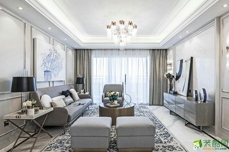 118平米现代简约风格三室两厅装修案例图 品峰装饰