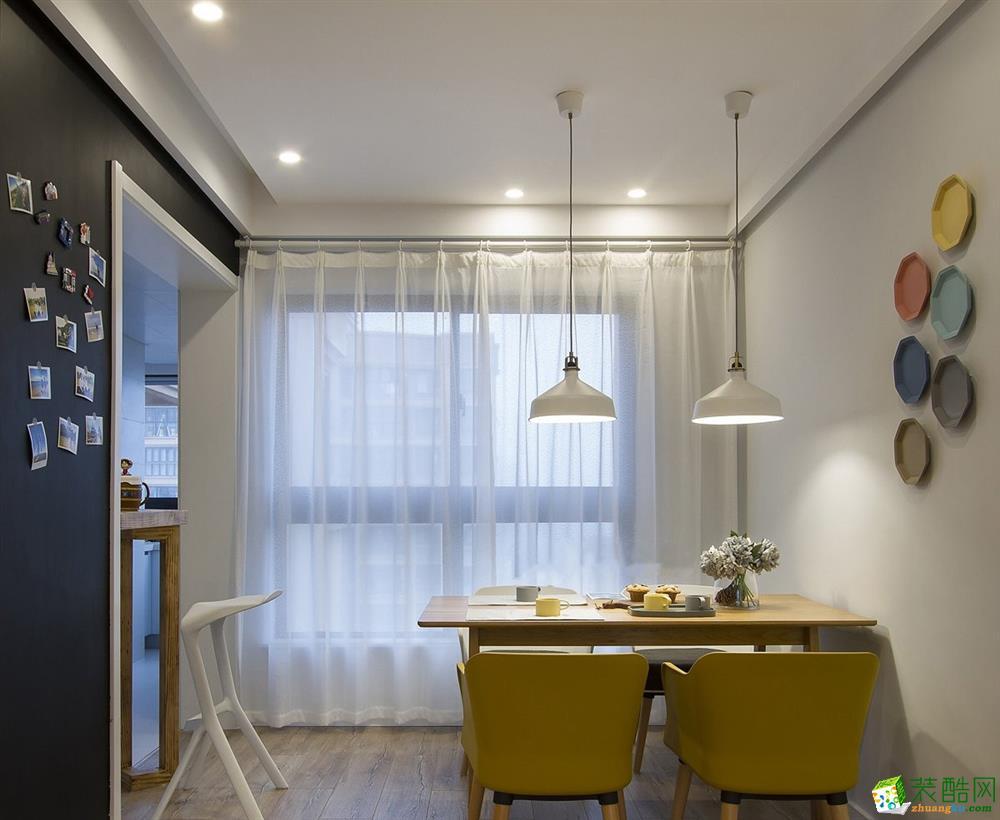 武汉拜斯达装饰―保利香颂124方三室两厅北欧风格装修效果图