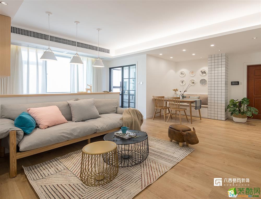 【六西格玛装饰】十里新城104方北欧风格三居室装修设计效果图