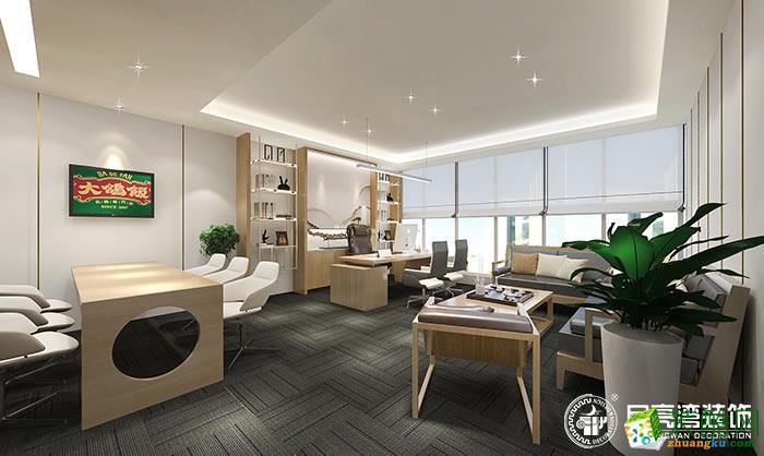 大鸽饭餐饮办公室1000平米现代风格装修案例图|月亮湾装饰