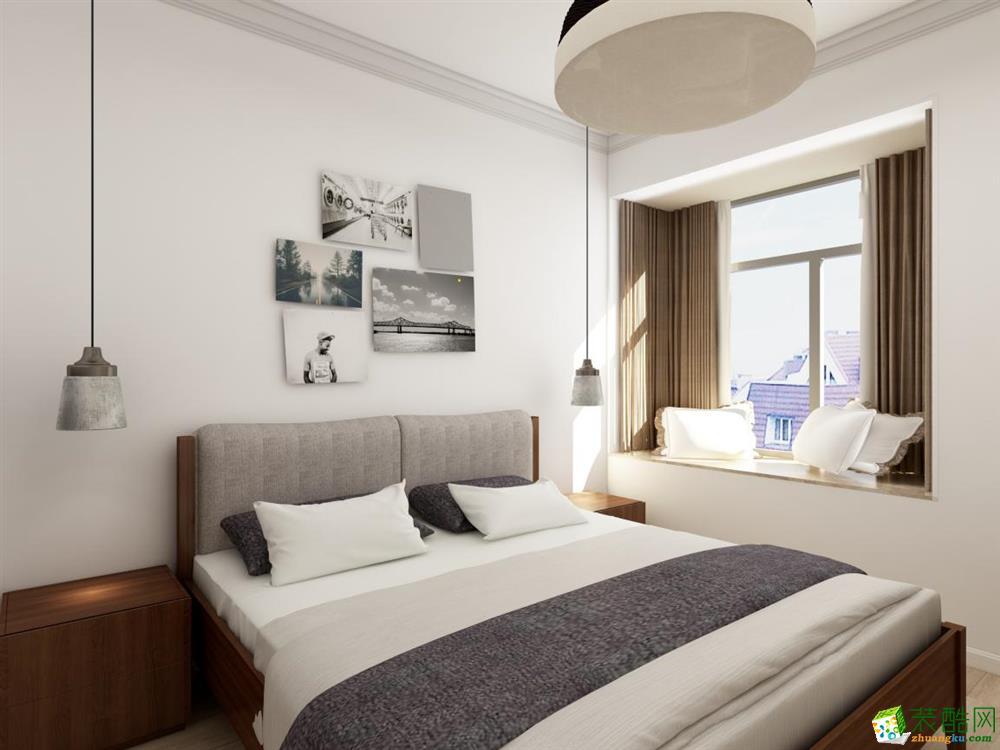 六安山水装饰-现代简约二居室装修效果图