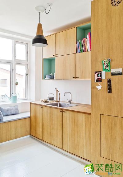 六安山水装饰-美式三居室装修效果图