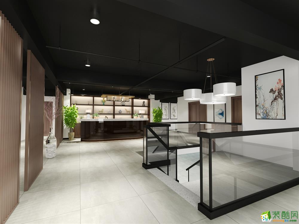 大众城市之光 两层 茶楼 中式风格 装修效果图【中玺装饰】