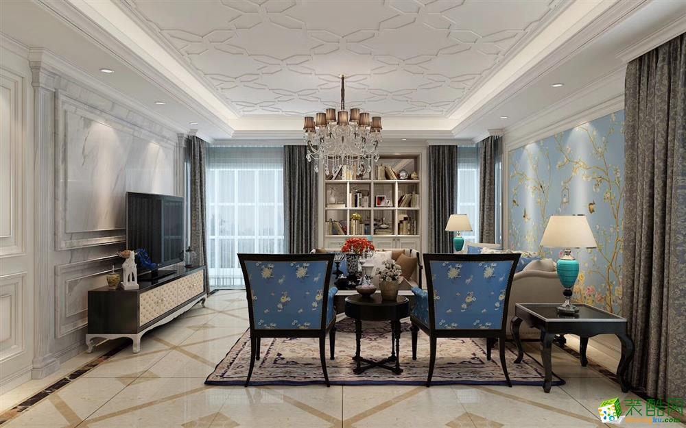 北岸江山140平米美式风格三室两厅装修案例图 唐卡装饰