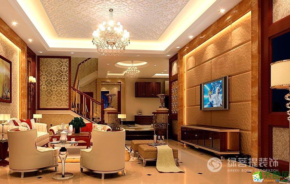 现代简约风格400平米别墅住宅装修案例图|绿菩提装饰