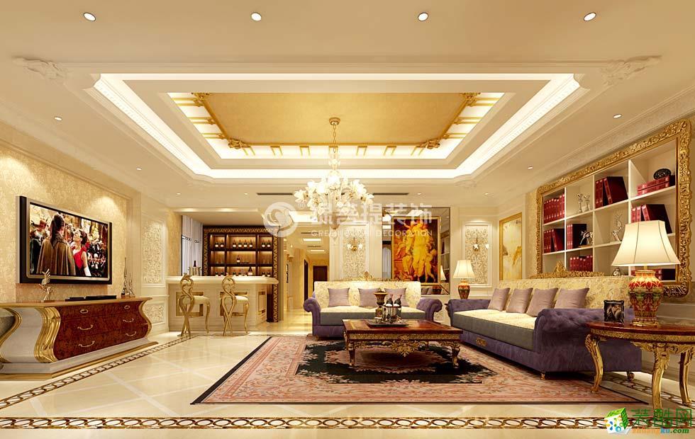 欧式风格6500平米别墅住宅装修案例图|绿菩提装饰