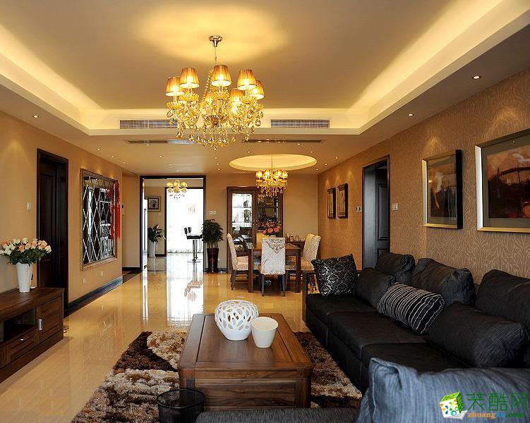 148平米混搭风格四室两厅装修案例图|崇迈装饰