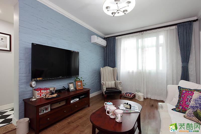 85平米两室两厅美式风格装修案例图|崇迈装饰