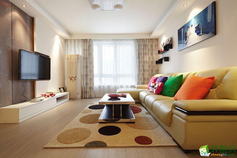 89平米现代简约风格三室一厅装修案例图|崇迈装饰