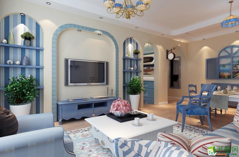 现代小兔窝装饰-地中海三居室装修效果图