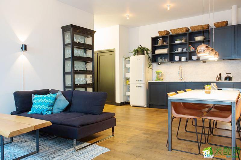 唯八装饰―80�O简约风格两居室装修设计效果图