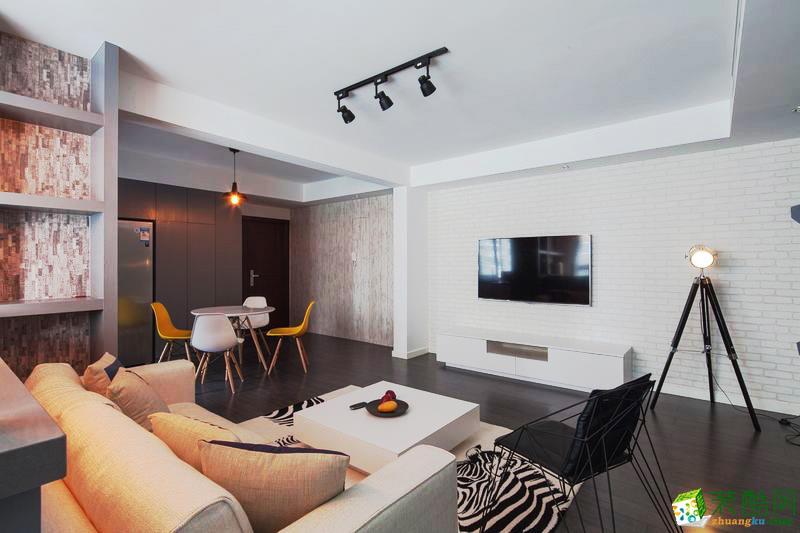 唯八装饰―120方现代简约风格三室两厅装修设计效果图