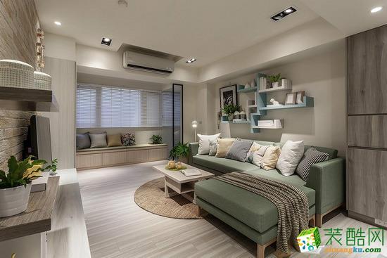 荣泰装饰―79方两室两厅美式风格装修效果图