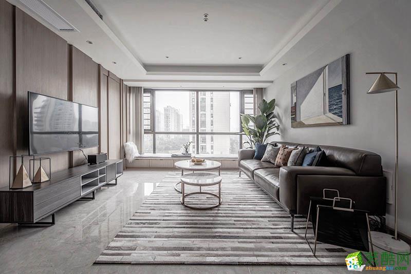 现代简约风格120平米两室两厅装修案例图|星艺装饰