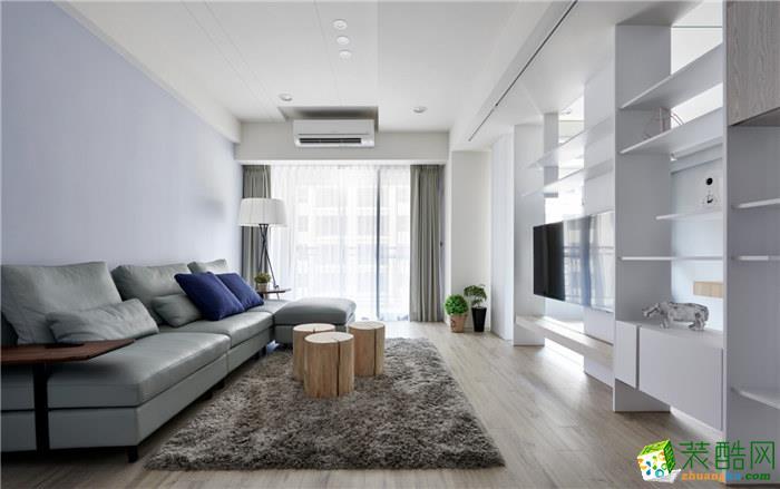 86平米现代简约风格两室两厅装修案例图|名匠装饰
