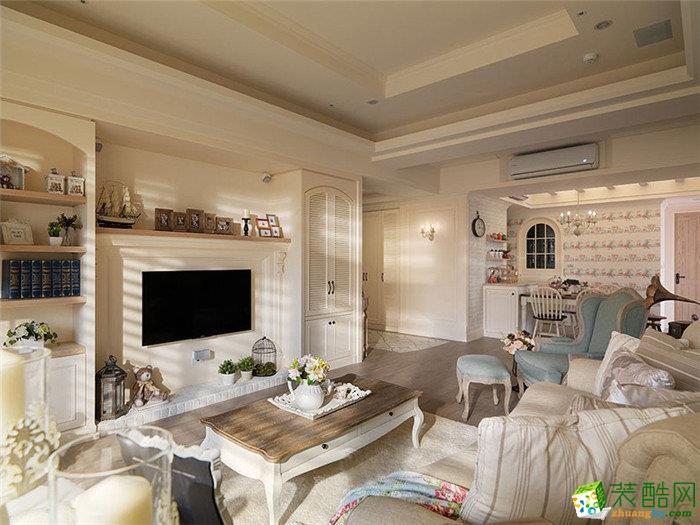 田园风格94平米两室两厅装修案例实景图|点石装饰