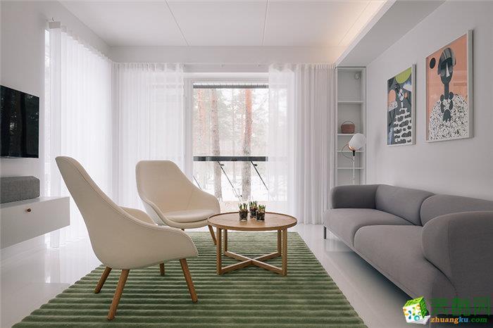 北欧风格85平米两室两厅装修案例图|佳饰家装饰