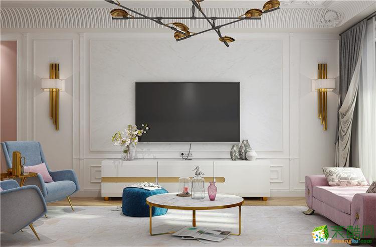 欧式风格130平米三室两厅装修案例图 中策装饰