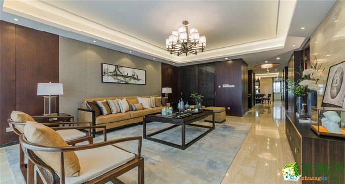 160平米新中式风格四室两厅装修案例图|轻舟装饰