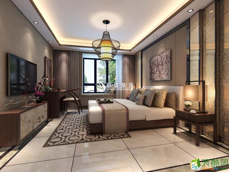 【鲁班装饰】180㎡中式风格四室装修效果图
