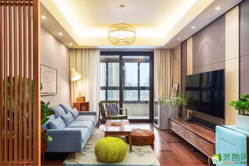 【南通品元装饰】82方两室两厅中式风格装修设计效果图