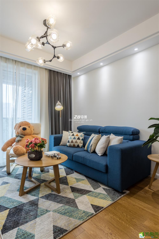 中博装饰----金色江南89方北欧风格舒适居家装修效果图