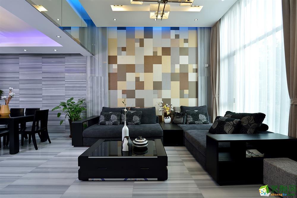 鑫佰利装饰 300平米现代简约风格别墅住宅装修案例图