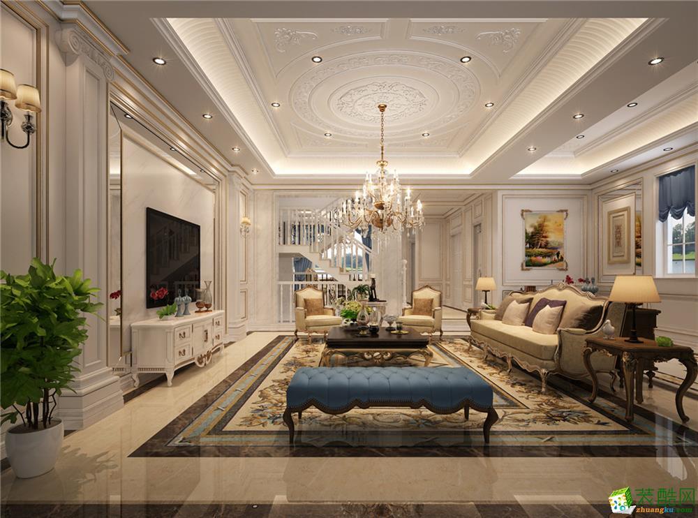 360平米法式风格别墅住宅装修案例图|和信居装饰