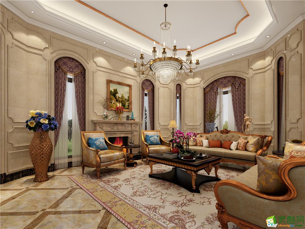 欧式风格500平米别墅住宅装修案例图|川豪装饰