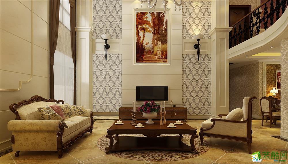 欧式风格280平米别墅住宅装修案例图|业之峰装饰