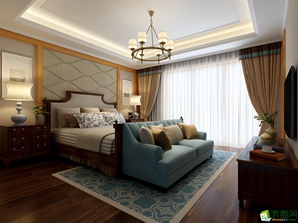 现代简约风格244平米别墅住宅装修案例图|家和装饰