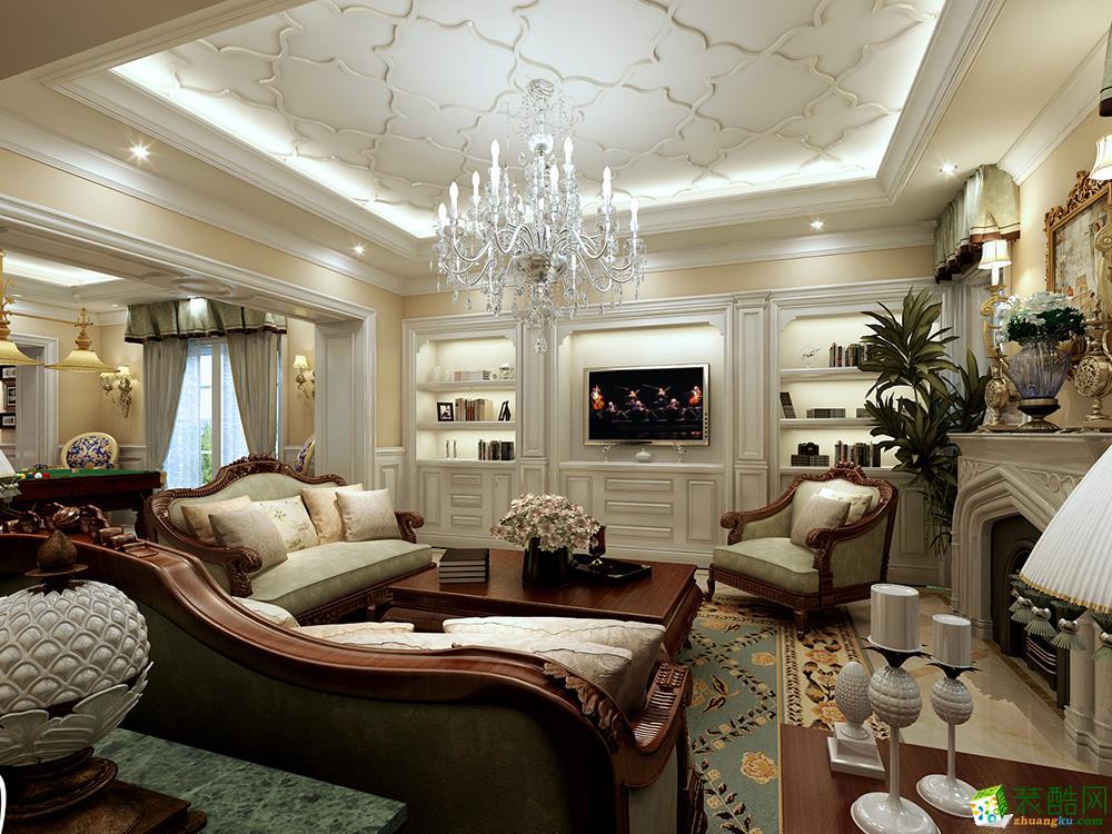 法式风格800平米别墅住宅装修案例图|楷模装饰